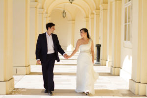Hochzeitsfoto in Schönbrunn